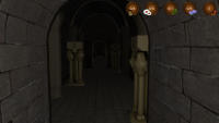 Screenshot of dark passage